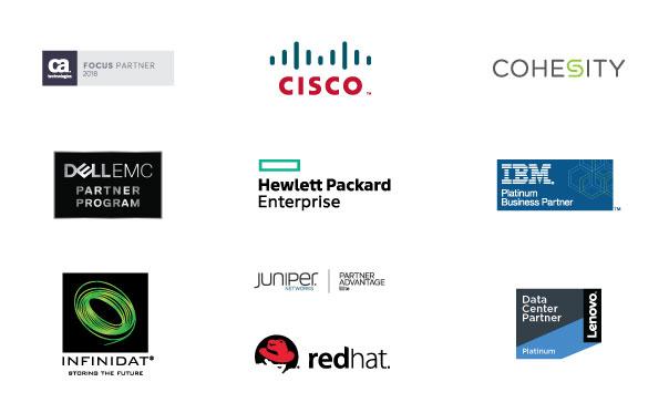 Mainline Strategic Partners: CA Technologies, Cisco, Cohesity, Dell EMC, HPE, IBM, Infinidat, Juniper, RedHat and Lenovo